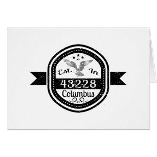 Tarjeta Establecido en 43228 Columbus