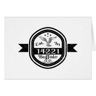 Tarjeta Establecido en el búfalo 14221