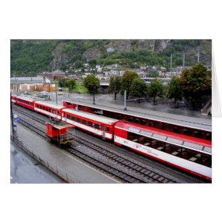 Tarjeta Estación del bergantín en Suiza