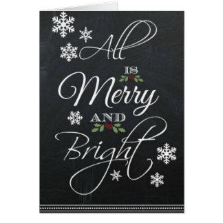 Tarjeta estacional de las Felices Navidad