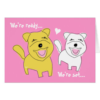 Tarjeta Estamos consiguiendo el perro casado de Westie de