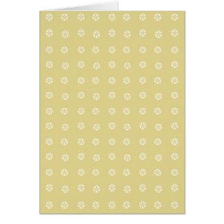 Tarjeta Estampado de plores del limón
