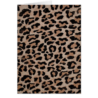 Tarjeta estampado leopardo del guepardo