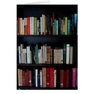 Tarjeta Estante para libros y libros