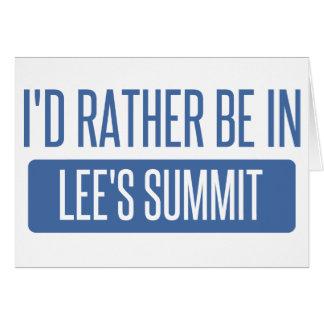 Tarjeta Estaría bastante en la cumbre de Lee