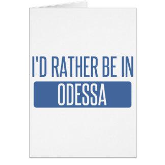 Tarjeta Estaría bastante en Odessa
