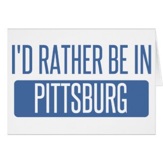 Tarjeta Estaría bastante en Pittsburg