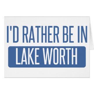 Tarjeta Estaría bastante en valor del lago