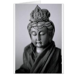 Tarjeta Estatua budista