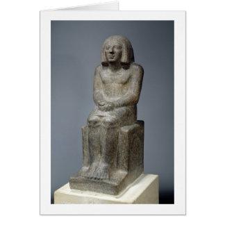 Tarjeta Estatua de Ankh, sacerdote de Horus, el PE