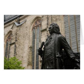 Tarjeta Estatua de Bach