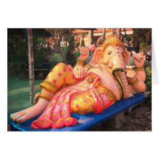 Tarjeta Estatua de descanso de Ganesha en Chiang Mai,