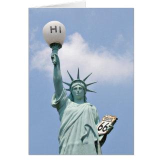 Tarjeta Estatua de la libertad americana