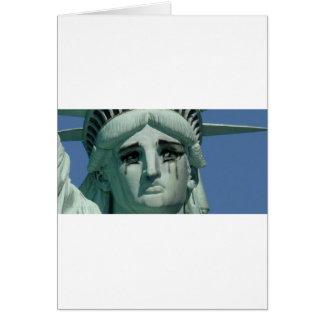 Tarjeta Estatua de la libertad gritadora