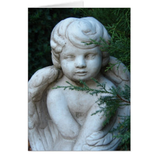 Tarjeta Estatua de la querube, Felices Navidad