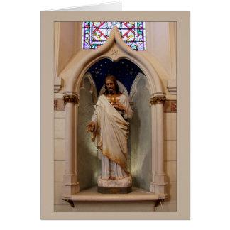 Tarjeta Estatua en la capilla de Loretto