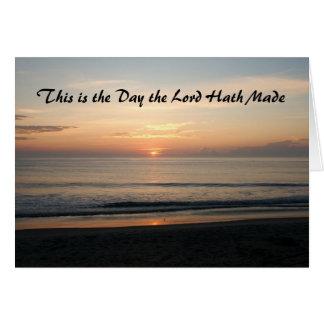 Tarjeta Éste es el día que el hath del señor hizo