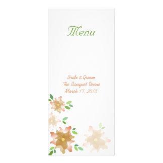 Tarjeta estilizada del estante del menú del boda d tarjetas publicitarias personalizadas