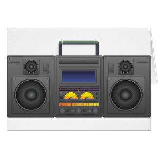 Tarjeta estilo Boombox de Hip Hop de los años 80