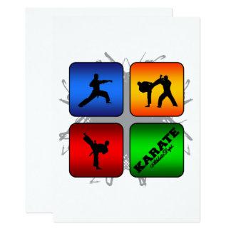 Tarjeta Estilo urbano del karate asombroso