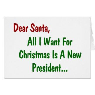 Tarjeta Estimado Santa todo lo que quiero para Navidad es