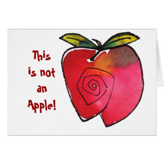 Tarjeta Esto no es Apple Notecard