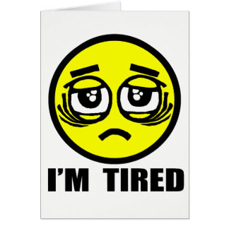 Tarjeta Estoy cansado