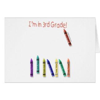 Tarjeta ¡Estoy en el 3ro grado!