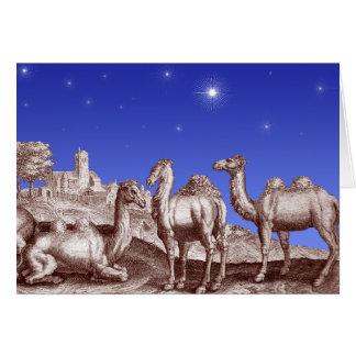 Tarjeta Estrella de los camellos de Belén