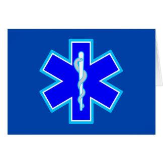 Tarjeta Estrella del azul del símbolo el ccsme del