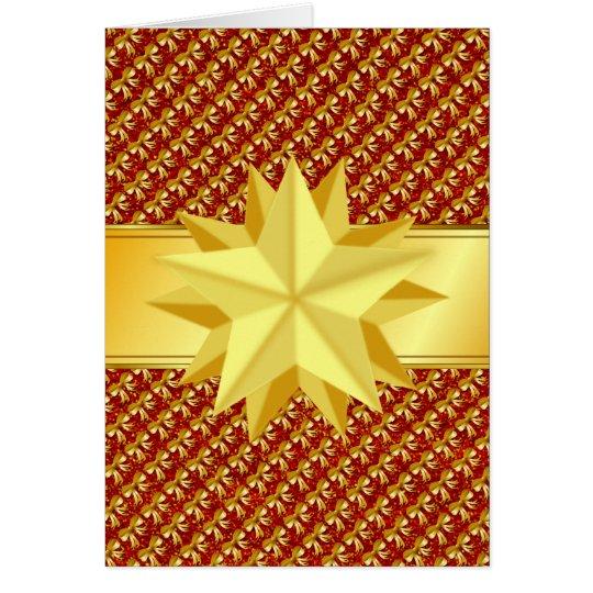 Tarjeta Estrella del navidad