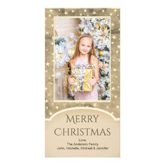 Tarjeta Estrella del oro del vintage con la foto