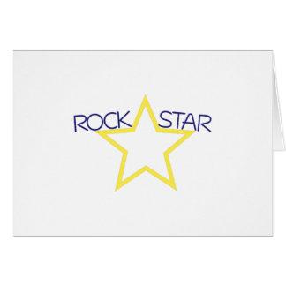 Tarjeta Estrella del rock