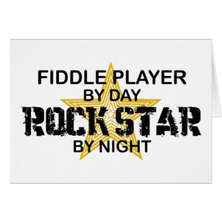 Tarjeta Estrella del rock del jugador del violín por noche