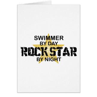 Tarjeta Estrella del rock del nadador por noche