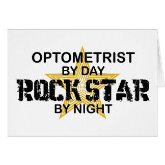 Tarjeta Estrella del rock del optometrista por noche