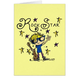 Tarjeta Estrella del rock rubia del muchacho