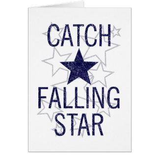 Tarjeta estrella el caer de la captura