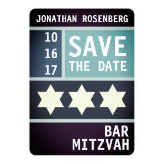 Tarjeta Estrella intrépida de la reserva de Mitzvah de la