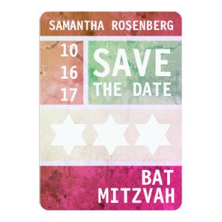 Tarjeta Estrella intrépida de la reserva de Mitzvah del