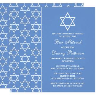 Tarjeta Estrella judía azul y blanca elegante de la barra