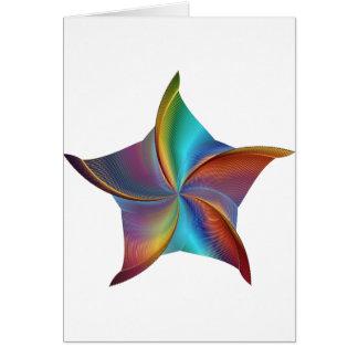 Tarjeta Estrella que remolina de la prisma colorida del