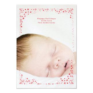 tarjeta estrellada de la foto del día de fiesta invitación 12,7 x 17,8 cm