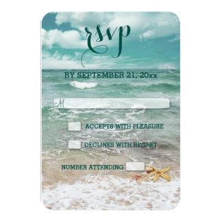 Tarjeta Estrellas de mar elegantes de la playa que casan