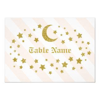 Tarjeta Estrellas del brillo del nombre de la tabla