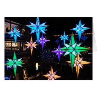 Tarjeta Estrellas del navidad en el círculo de Columbus