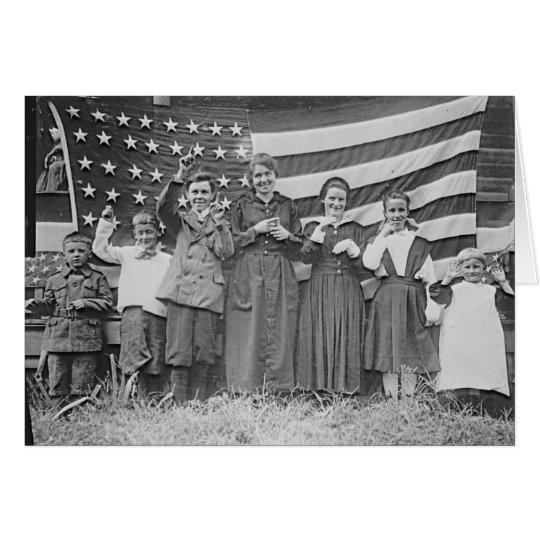Tarjeta Estudiantes Cincinnati 1918 de la escuela del St.