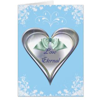 Tarjeta eterna del amor azul
