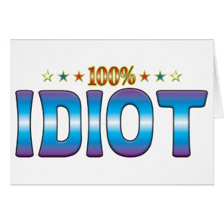 Tarjeta Etiqueta v2 de la estrella del idiota
