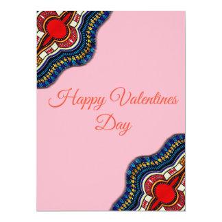 Tarjeta étnica del día de San Valentín del cordón